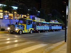 Road Train (stevenbrandist) Tags: road roadtrain calp spain tourist ride vehicle holiday night blue yellow