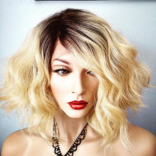 #tinted #darkrootsblondehair #wig #wigsforsale #newattitudewigs #casual #casualstyle #lacefrontwig