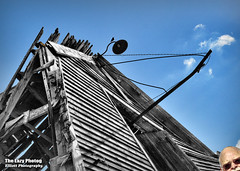 April 20 2016 - Ridin' the storm out (lazy_photog) Tags: lazy photog elliott photography worland wyoming ten sleep old anderson barn collapsing weathered abandoned selective color bird light 042016andersonsbarn