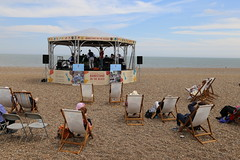 Bandstand on the Beach (NZGandG) Tags: beach sufolk band bandrotunda rotunda concert deckchair bandstand