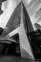 Sydney Building (adamrochester) Tags: sydney australia building architecture black white contrast sky minimal