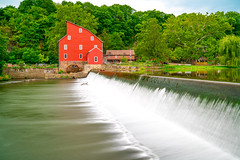 Red Mill (Firoz Ansari) Tags: nj newjersey museum clinton historic fall water stream outdoor building