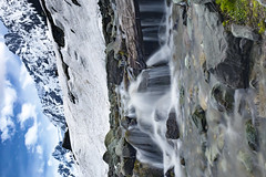 Sonmarg_MG_1579 (photobhu) Tags: blue kashmir landscape icemelt snow waterfall