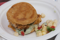 Chicken and Cornbread Sandwich (SaySandra) Tags: food edmonton championship downtown festival sandwich competition corn coleslaw