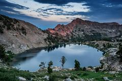 Liberty Lake Alpenglow, Ruby Mountains, Nevada (Beau Rogers) Tags: rubymountains rubies nevada greatbasin alpenglow alpine backpacking backcountry