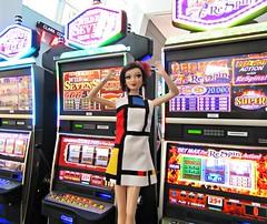 Las Vegas Airport1 (annesstuff) Tags: annesstuff terminal3 airport lasvegas doll fashiondoll traveldoll mattel barbie slots slotmachines barbieconvention nationalbarbieconvention jacksonville florida