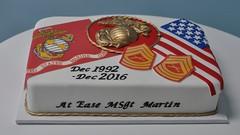 Military retirement sheet cake (jennywenny) Tags: marines sheet cake retirement flag