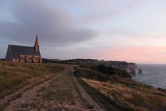 ETRETAT (Subrozza) Tags: tretat normandie normandy sunset sky france landscape falaise chapelle