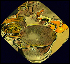 (Cliff Michaels) Tags: iphone6 photoshop pse9 prisma kitchen cooking