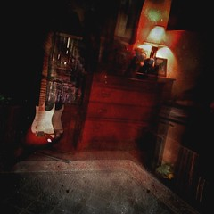 Paranormal Creak-tivity (Captain Creepy) Tags: antiquewoodbureau fenderstrat lamp carpet spooky noisy creaking bumping