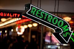 quality_restrooms (Pye42) Tags: pikeplacemarket publicmarket seattle washington arrow farmersmarket neonsign restrooms sign unitedstates