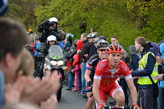 Chevin hill climb 1st riders up. Nicolas Edet and Lawson Craddock (rawdonfox) Tags: bicycle racing tdy cycles yorkshite tourdeyorkshire