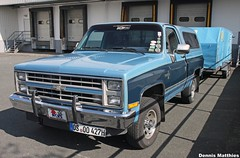Silverado (The Rubberbandman) Tags: road blue school red usa black chevrolet up car monster america germany us big flat offroad pickup chevy bumper german american vehicle pick silverado meet matte 2500 dually bramsche