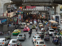 Transportation in Thailand (Asian Development Bank) Tags: people urban streets cars buses thailand cityscape locals traffic bangkok transport citylife cities motorcycles overpass taxis vehicles transportation pedestrians scooters walkways rushhour roads publictransport cabs motorbikes automobiles commuters tha citizens taxicabs urbanlandscape tuktuks urbanliving commercialdistrict roadconditions trafficconditions privatevehicles