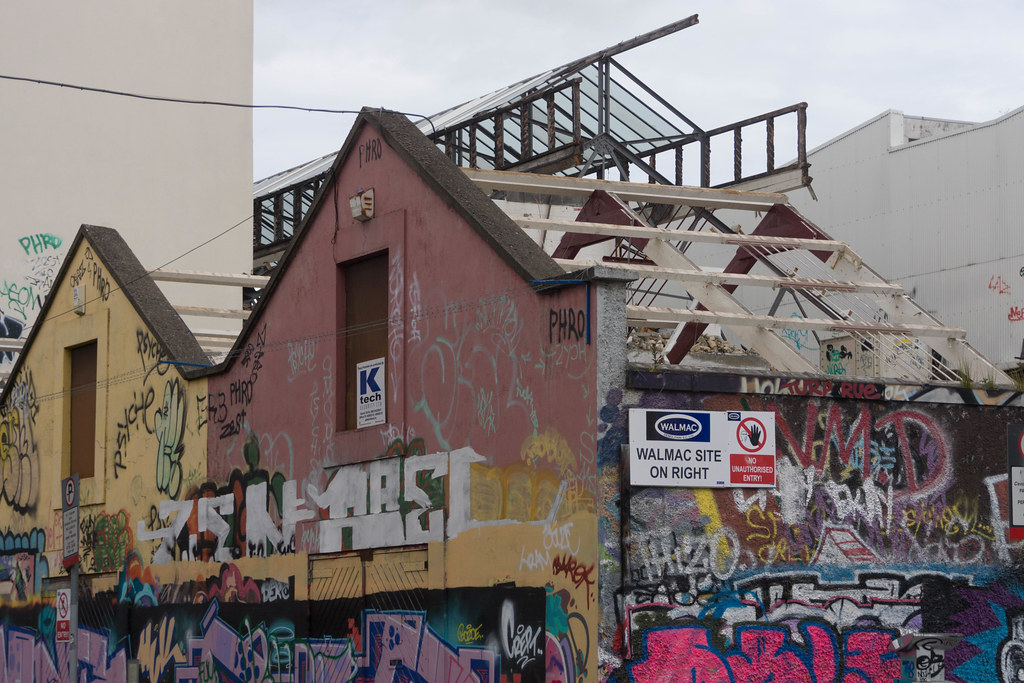 ACROSS THE STREET FROM THE DEMOLISHED WINDMILL LANE RECORDING STUDIOS  REF-104876