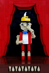 Pinocchio (jsnyder002) Tags: brick ice hat nose model arms lego cone stage cream seed part creation curtains build pinocchio built