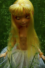 Im giving in (Vuffy VonHoof) Tags: flowers girl face make up field grass saint photography high doll paint do dolls child god ooak goddess young after re everything lovely ever godess repaint faceup