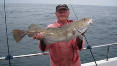 "Barry Moore with14lb Cod • <a style=""font-size:0.8em;"" href=""http://www.flickr.com/photos/113772263@N05/18748736445/"" target=""_blank"">View on Flickr</a>"