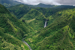 Valley & Falls (Adam Claeys) Tags: mountains green water river garden landscape island hawaii flickr falls helicopter waterfalls valley kauai heli ilse vast