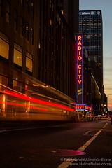 Radio City Music Hall, New York (NativePaul) Tags: america city diamonddistrict evening lighttrails longexposure nyc newyork newyorkcity nighttime radiocitymusichall slowexposure usa unitedstates us