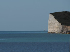 "Kind of Blue (Say ""Wasabi"") Tags: sussex sevensisters minimal minimalism sailing yacht cliffs blue sea sailor boat"