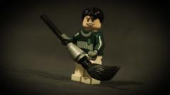 LEGO Marcus Flint (Geertos13) Tags: lego harry potter custom minifigure marcus flint draco malfoy slytherin quidditch team captain chaser quaffle teeth troll