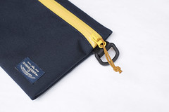 Flat Pouch Blue Yellow 04 (Imagery Bags) Tags: zipper ykk waterresistant flatpouch drypouch