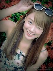 jaylin-0271 ( Jaylin) Tags: school portrait girl hat rain studio outside glasses model women university longhair taiwan straw olympus oldhouse dresses taipei mirco turf omd   jaylin m43   40150mm mzd  jelin      linjay
