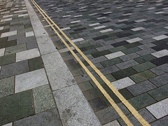 Diagonal (only lines) Tags: road kent noparking diagonal paving ashford doubleyellowlines