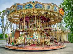 """le """"Carrousel de la Cit""""  Aigues-Mortes en Camargue (capvera) Tags: carrousel merrygoround medieval city aiguesmortes camargue mange chevaux horses children fun attractions france languedoc"""