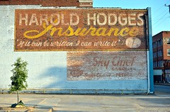 Ghost Buddies (Rob Sneed) Tags: paris vintage texas gasoline texaco paristexas ghostsigns skychief haroldhodgesinsurance texacoskychief skychiefgasoline