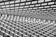 Lige-Guillemins railway station abstract (jbarry5) Tags: ligeguilleminsrailwaystation ligeguillemins ligeguilleminstrainstation ligeguilleminsstation liegetrainstation liegestation architecture abstract geometry travelphotography travel blackandwhite