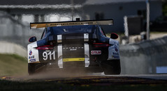 Sandblasting the 911 (speedcenter2001) Tags: imsa weathertech ekhart elkhartlake wisconsin roadamerica roadcourse roadracing sportscar race racing racecar motorsports event tc14eii teleconverter d500