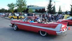 Party Of Six (Sherlock77 (James)) Tags: calgary cruisenight car classic convertible plymouth belvedere people