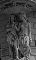 La Cariatide tentatrice (emilype) Tags: milano milan statue telamone cariatide architecture arte art architettura bn bnarte bnvitadistrada blancoynegro blackwhitephotos blackandwhite bl