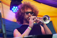 Alternative Dubstep Orchestra @ Mostly Jazz Festival 4 (preynolds) Tags: concert gig livemusic dof canon5dmarkii mark2 raw tamronsp70200f28divcusd tamron70200 sunglasses trumpet stage stagelights festival birmingham bighair moseley moseleyprivatepark counteractmagazine noflash hiphop dub brass brassband music musician mostlyjazz2016