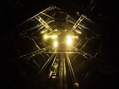 Eiffelevator (Cornelli2010) Tags: alien construction eiffeltower eiffelturm elevator fahrstuhl france frankreich hrgiger iphone5s lichter lift lights nacht night paris spooky stahl steel tourdeeiffel sciencefiction scifi