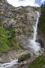 Burkhan-Bulak waterfall (busitskee) Tags: waterfall nature beautiful water mountains mountain outdoor