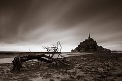 Mont Saint-Michel (Peter Gol) Tags: canoneos60d canoneos60d1585 1585 efs1585 longexposure neutraldensityfilter neutraldensity ndfilter nd110 france normandi normandy frankrijk abbey commune island clouds sky