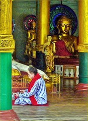 Southeast Asia: Myanmar 2 (Bruno Zaffoni) Tags: yangon shwedagonpaya myanmar hdr burma buddhism buddhisttemple buddha