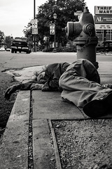 street sleepers 1 (jeff_tidwell) Tags: street streetphotography streetphoto candid denver milehighcity homeless sleeping blackandwhite