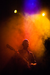 In The Vibrant Smoke - Pattern Pusher Presents - Pattern Pusher (Elliot Tratt) Tags: portrait portraits hiding shadow shadows edit edited canon eos 5d 5dm2 magic cornwall 2016 smoke smokey colour colourful guitar music concert loud bright noise patternpusher