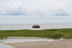 Eastham side of Rock Harbor (robincagey) Tags: beach cape cod rock harbor cloudy clouds massachusetts