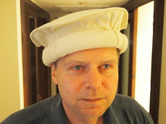 Tor Erling trying on some hats!