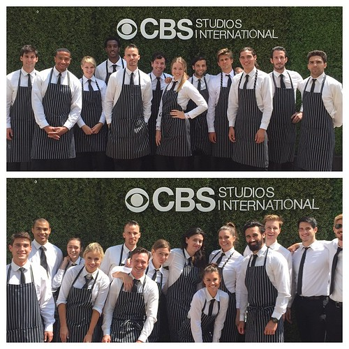 Five events w/ @thefoodmatters for CBS this week! 4 of the days were on the fabulous Paramount lot & lots of great staff each day!  Thanks for having us! #6am #events #staffing #paramountstudios #cbs #upfronts #servers #bartenders #TheFoodMatters #tv #hol