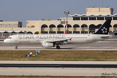 Turkish Airlines --- Airbus A321 --- TC-JRA (Drinu C) Tags: plane aircraft aviation sony special airbus dsc turkish mla a321 staralliance turkishairlines lmml tcjra hx100v adrianciliaphotography