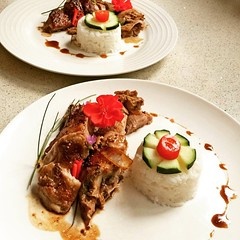 رست اردک با خاجا سس .همراه برنج اسیایی، Made by chef_shahin_Ghanizadeh (jansonwikenson) Tags: square squareformat ludwig iphoneography instagramapp uploaded:by=instagram