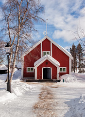 Little Church in the Snow (Kristin Repsher) Tags: winter snow nikon sweden lapland kiruna jukkasjärvi northernsweden norrbotten d700 swedishlapland