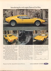 1973 Ford Pantera L by Ghia Advertisement Motor Trend November 1973 (SenseiAlan) Tags: november ford by advertisement l motor trend 1973 ghia pantera