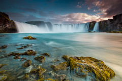 Goafoss [Explore]@Mvatn (Benjamin MOUROT) Tags: iceland islande noth northernlight viking canon 70d longexposure nisifilter polarised lightroom6 photoshopcs3 1022mm landscape paysage poselongue europe 2016 july cascade cascada waterfall eau fluide chute goafoss godafoss sunset sunlight colorful mastepiece explore